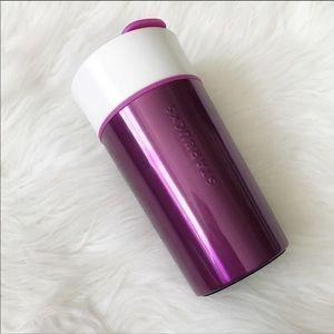 Starbucks Travel Mug 10oz ceramic pink metallic